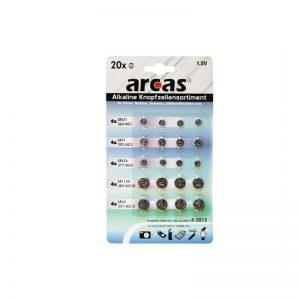 Piles boutons Arcas