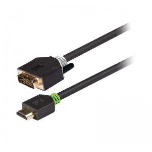 Câble DVI vers HDMI™, DVI-D mâle vers connecteur HDMI™, 2 m, gris