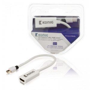 Câble adaptateur Mini DisplayPort vers HDMI™, mini DisplayPort mâle vers sortie HDMI™, 0,20 m, blanc