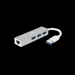 Adapteur USB 3.0 Réseau Gigabit Ethernet RJ45 + 3 ports USB 3.0