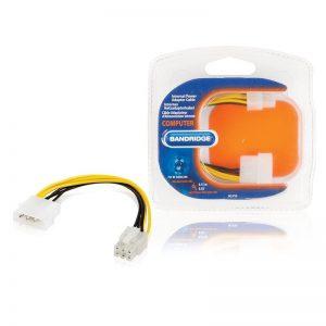 Câble d'alimentation interne Molex Mâle - PCI Express 6 Pin Mâle 0,20m