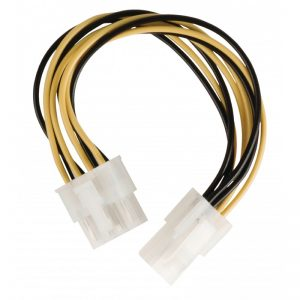 Câble adaptateur d'alimentation interne EPS 8-pins Mâle - P4 Femelle 0.15 mètre