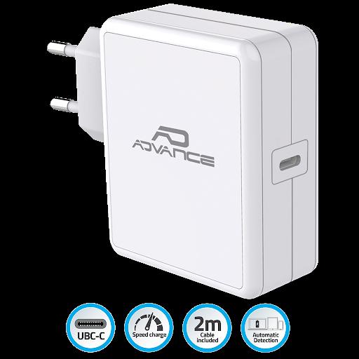 Chargeur mac et pc portables USB Type C 65 W